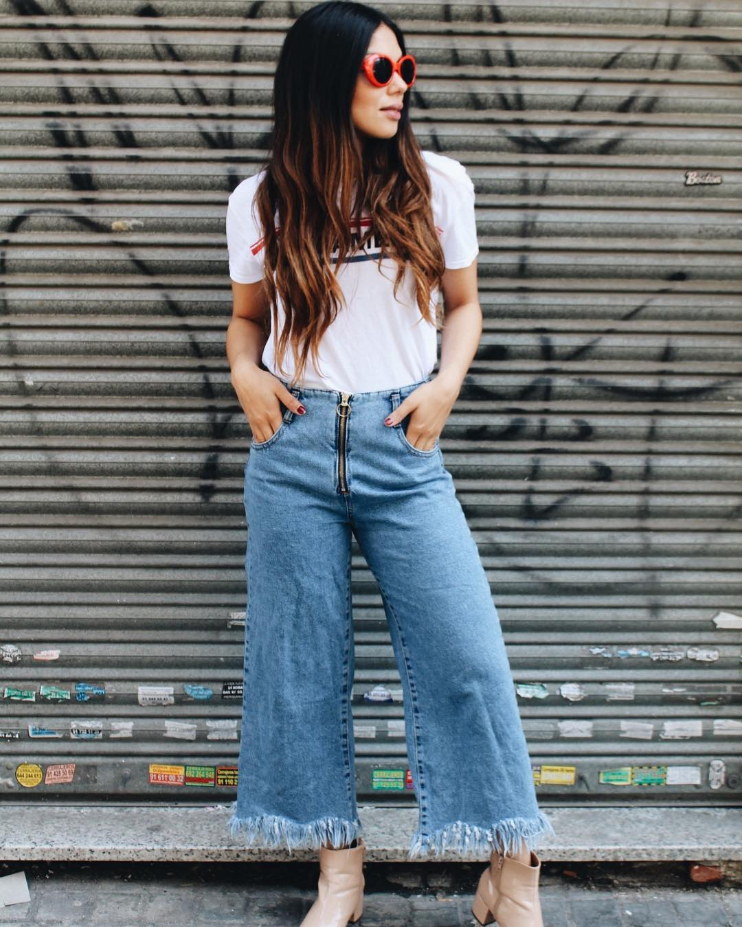Frayed Denim Culottes and a T-shirt
